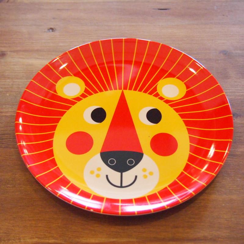 スウェーデン OMM-design インゲラ・アリアニウス メラミンプレート Lion ライオン