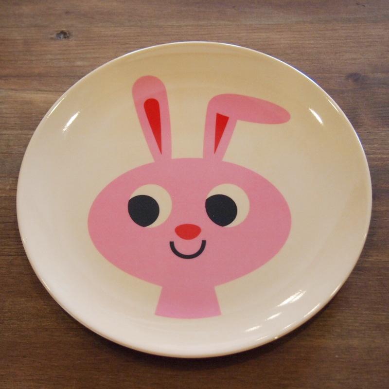スウェーデン OMM-design インゲラ・アリアニウス メラミンプレート Rabbit ウサギ