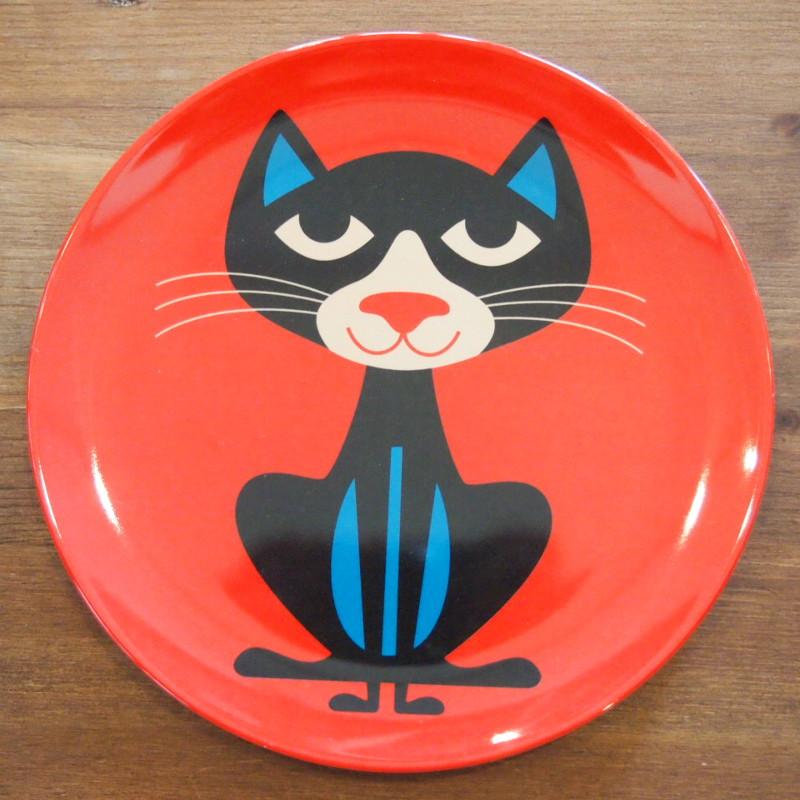 スウェーデン OMM-design インゲラ・アリアニウス メラミンプレート Cat ネコ