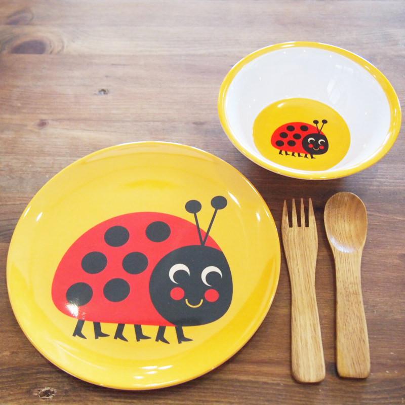 スウェーデン OMM-design インゲラ・アリアニウス メラミンプレート Ladybug  てんとうむし