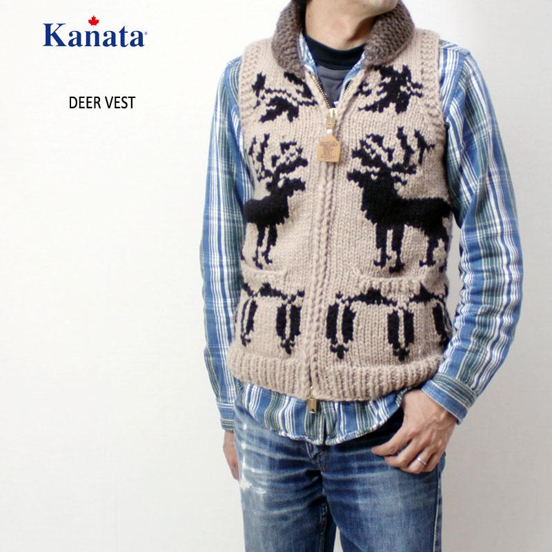 "Kanata(カナタ) カウチン ベスト ろーぐすカラー別注 ""DEER"" DEERVEST"
