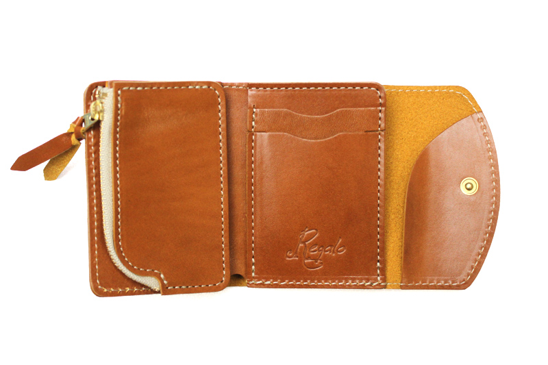 Regalo レガーロ ウォレット 「Dolce」 CAMEL WC-DOLCE
