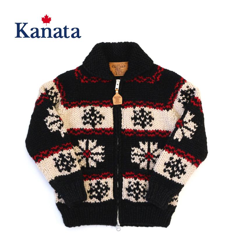 """【別注】Kanata カナタ カウチンセーター特別モデル 1950s OLDSNOW PATTERN KANATA×ROGUES COWICHAN WOOL JACKET """"SNOW"""" KV-06-SNOW"""