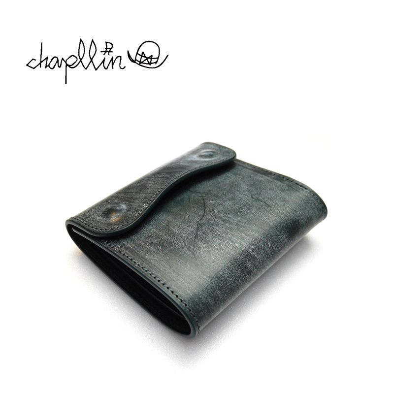 """chapllin チャップリン ウォレット BRIDLE LEATHER """"Coinless Wallet"""" CPW-SMT-BRIDLE-GN"""