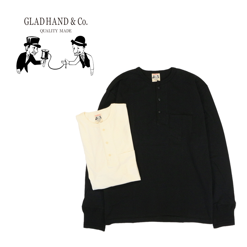 "GLAD HAND グラッドハンド Tシャツ""STANDARD HENRY POCKET L/S T-SHIRTS"" GLAD HAND-26"