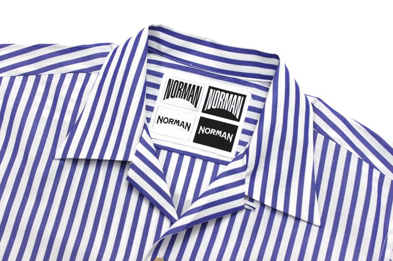 NORMAN ノルマン 半袖 シャツ BACK PRINT OPEN COLLAR SHIRTS NOR-0011