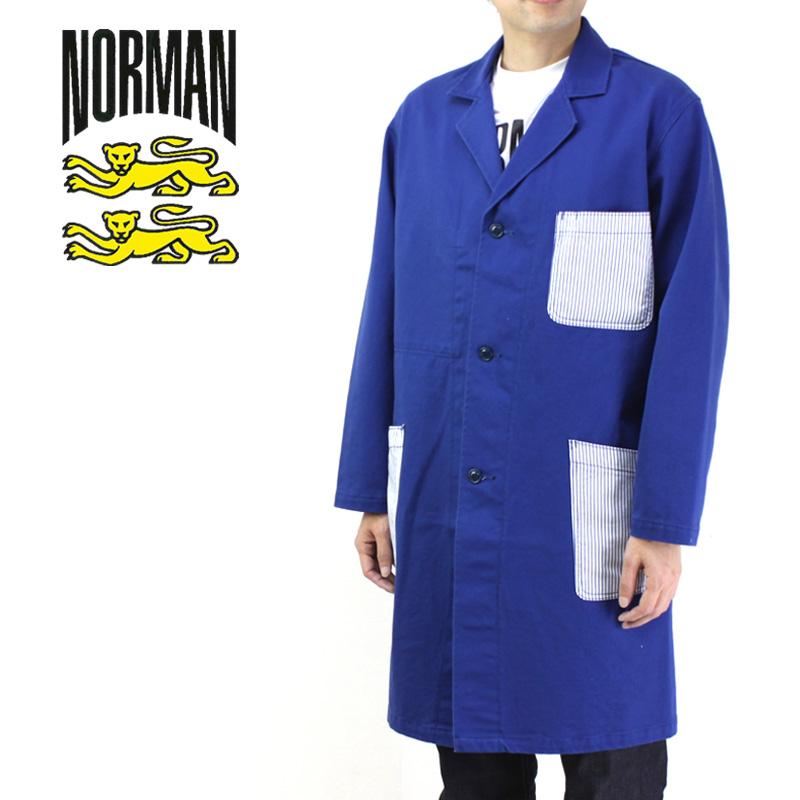 NORMAN ノルマン アウター STRIPE POCKET SHOP COAT NOR-0005