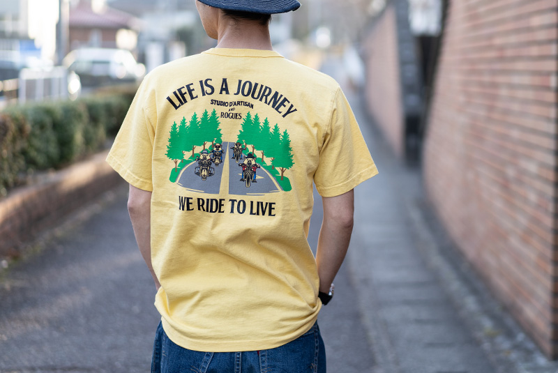 "STUDIO D'ARTISAN ステュディオ・ダ・ルチザン 半袖Tシャツ ろーぐす別注 ""LIFE IS A JOURNEY"" RG-005"