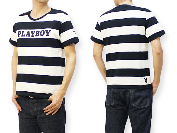 "PLAYBOY × ろーぐす コラボ半袖Tシャツ ""FIND THE RABBIT BORDER"" PBRG-104"