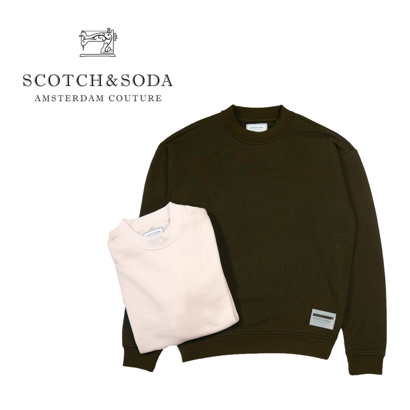 "SCOTCH&SODA スコッチアンドソーダ トレーナー ""Recycled boxy fit high neck sweatshirt"" 282-23820"