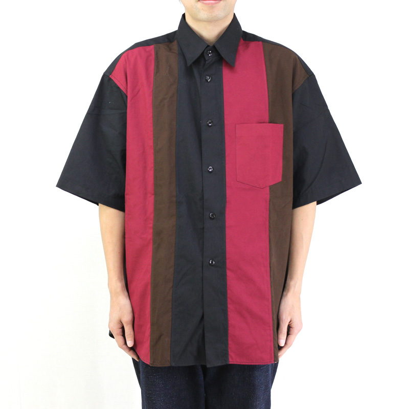 MONITALY モニタリー 半袖 シャツ HALF SLEEVE PANELED SHIRT M25253