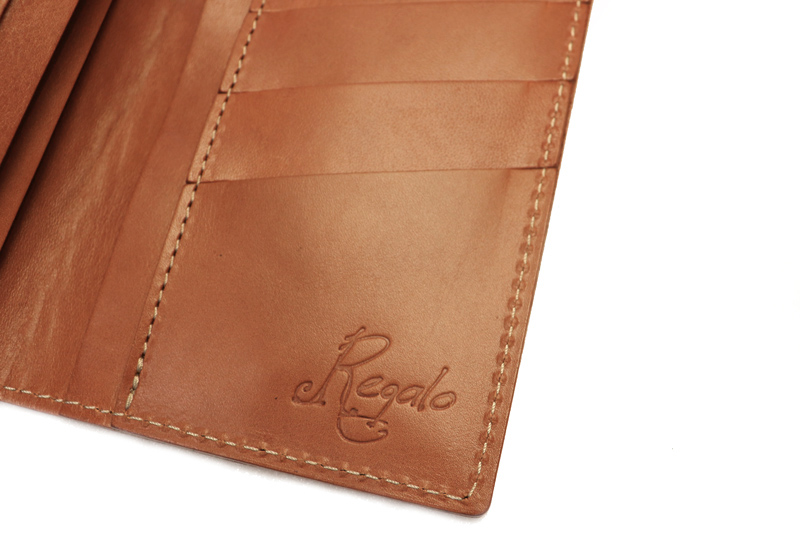 """Regalo レガーロ  ウォレット """"SLIM LONG WALLET WITHOUT COIN PURSE""""  CAMEL  WL-02-CAM"""