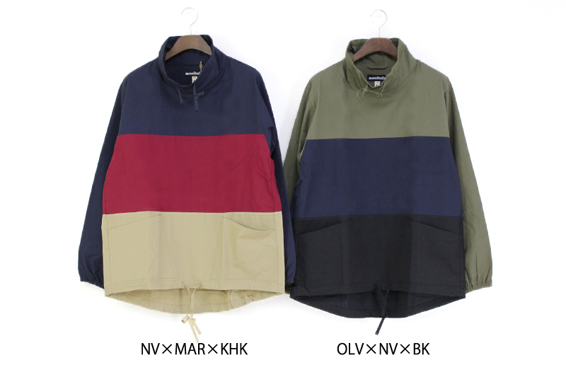 MONITALY モニタリー プルオーバー L/S PANELED MOCK NECK PULLOVER M25408