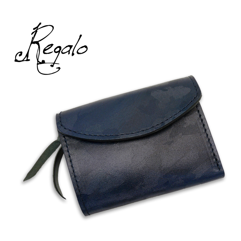"""Regalo レガーロ ウォレット """"Dolce-due"""" BLUE/BLACK WC-DOLCE-DUE"""