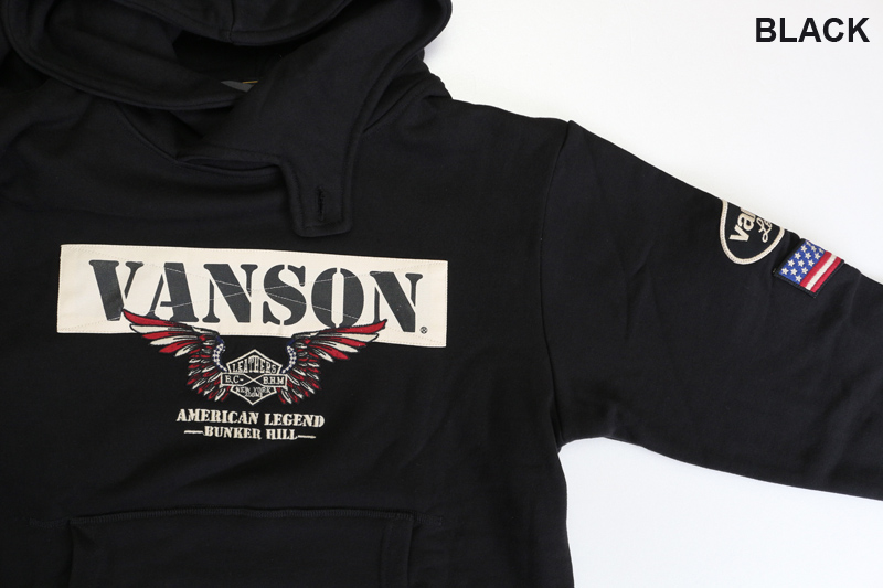 "VANSON バンソン  スウェット・パーカ ""プルオーバーパーカー"" NVSZ-2012"