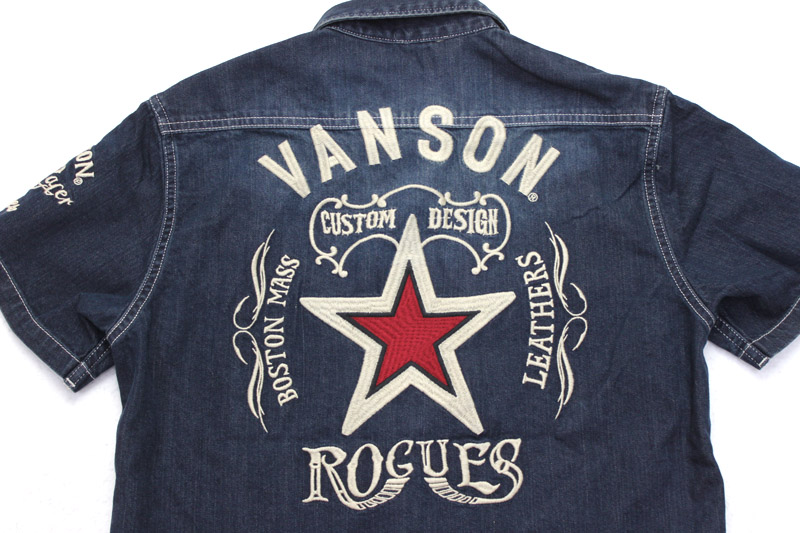 VANSON バンソン 半袖 シャツ ろーぐす別注 ONE STAR CUSTOM RSVA-902