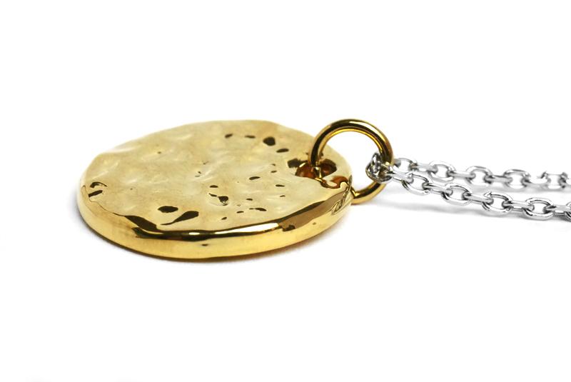 vie ヴィー ネックレス ドレッシープレートペンダント シンプル イエローゴールド 金属アレルギー対応 アレルギーフリー ステンレス N1295Y