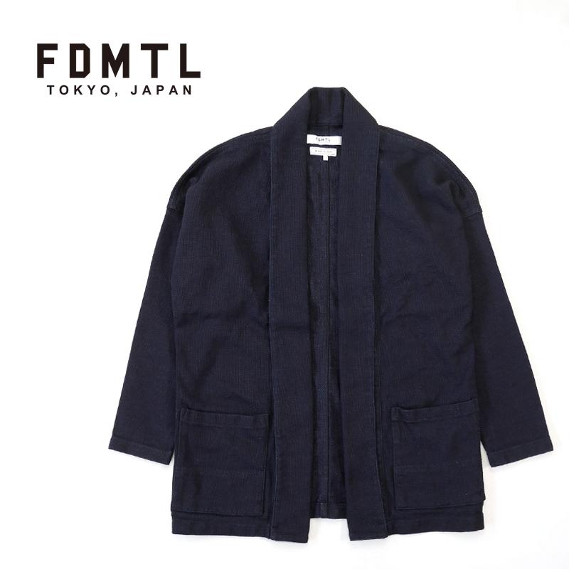 "FDMTL ファンダメンタル カーディガン ""HAORI SHORT CARDIGAN RINSE"" FA21TP16R"