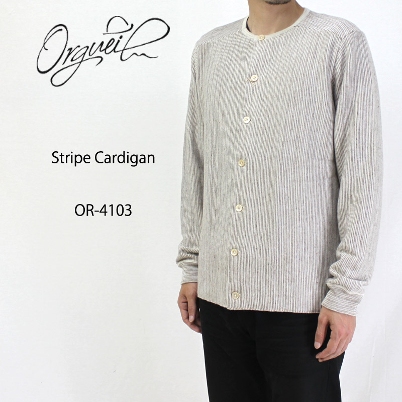 ORGUEIL オルゲイユニット カーディガン  Stripe Cardigan OR-4103