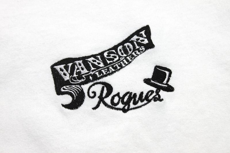 VANSON バンソン 半袖 Tシャツ ろーぐす別注 CLASSICAL LABEL RSVA-901