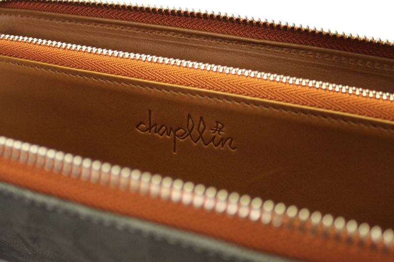 """chapllin チャップリンウォレット""""ELEPHANT LEATHER WALLET""""CPW-FLAM-EL-GY"""