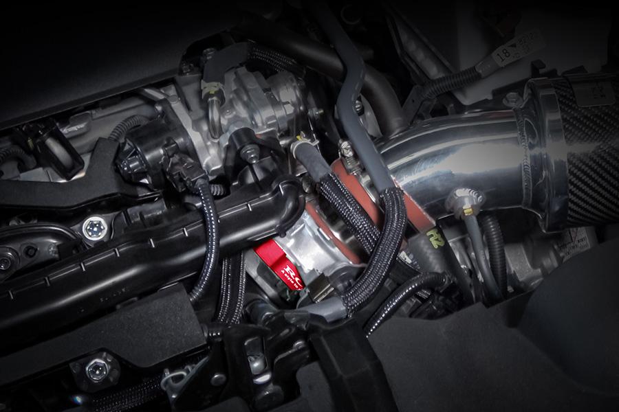 ROJAM スロットルスペーサー アルマイトレッド RAV4 50系 2.0L 2WD/4WD ガソリン車用