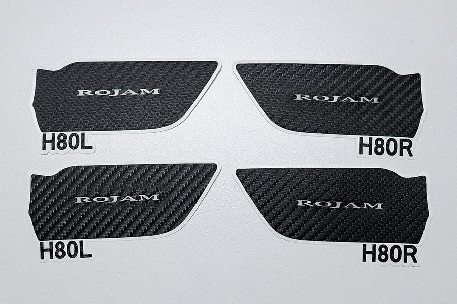 ROJAM カーボンデカール インナードアハンドルプロテクター 4点セット ハリアー 80系用