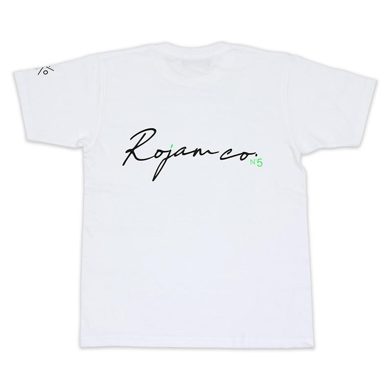 """ROJAM Tシャツ  """"ホワイト"""" ユニセックス/レディースモデル"""