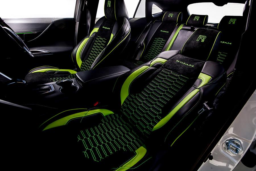 ROJAM エグゼクティブシートカバー レザー×スエードモデル タイプA 2列シート1台分セット ハリアー 80系 Sグレード用