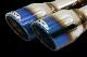 RAV4 50系 ROJAM IRT GENIK 対応 DTMエキゾーストシステム 4本出しマフラー 真円90Φ チタンブルー