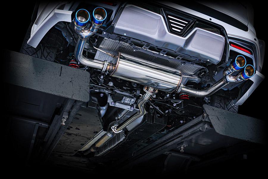 RAV4 50系 ROJAM IRT GENIK 対応 DTMエキゾーストシステム 4本出しマフラー 真円90Φ カーボン