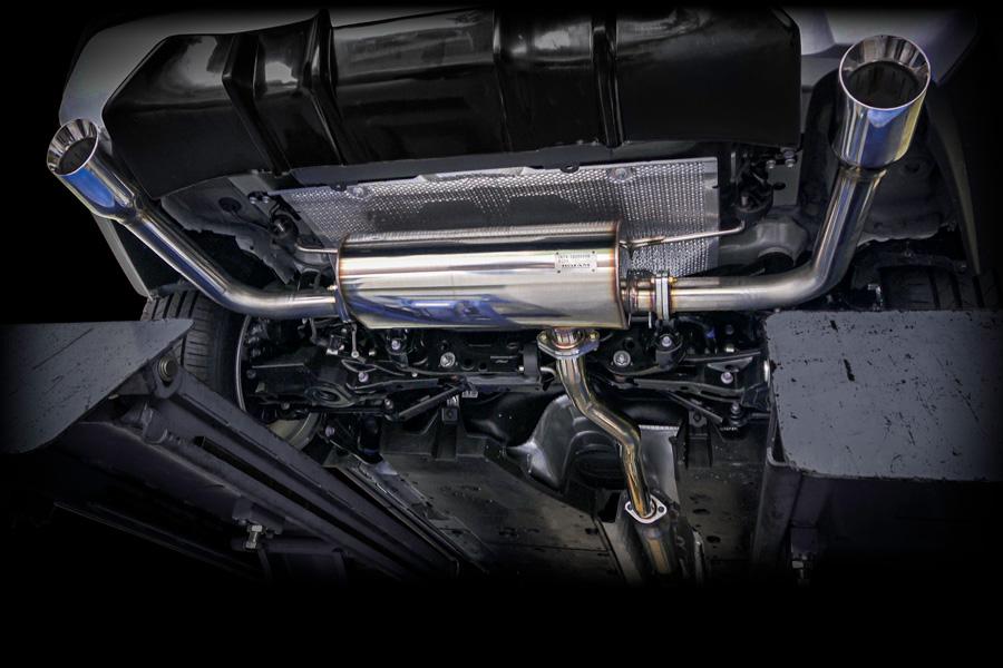RAV4 50系 純正バンパー対応 DTMエキゾーストシステム 左右出しマフラー 真円100Φ ミラーフィニッシュ
