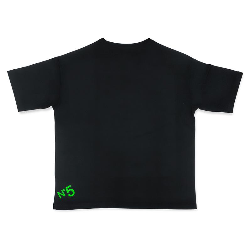 """ROJAM ビッグシルエット Tシャツ  """"ブラック"""" ユニセックスモデル"""