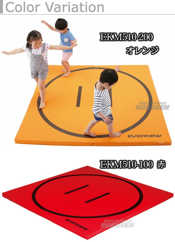 EVERNEW・エバニュー 軽量折りたたみ土俵マット すべり止め付き 180×180cm EKM510 相撲マット