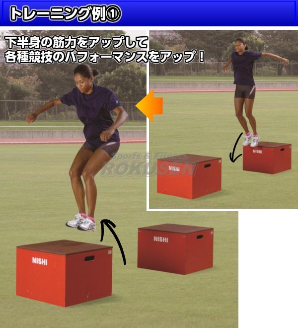 NISHI ニシ・スポーツ プライオボックスII 高さ90cm NT6904E プライオメトリックスボックス