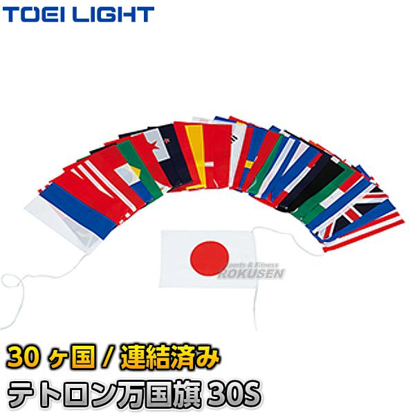 TOEI LIGHT・トーエイライト テトロン万国旗30S 30ヶ国セット 連結済み B-2501(B2501) ジスタス XYSTUS