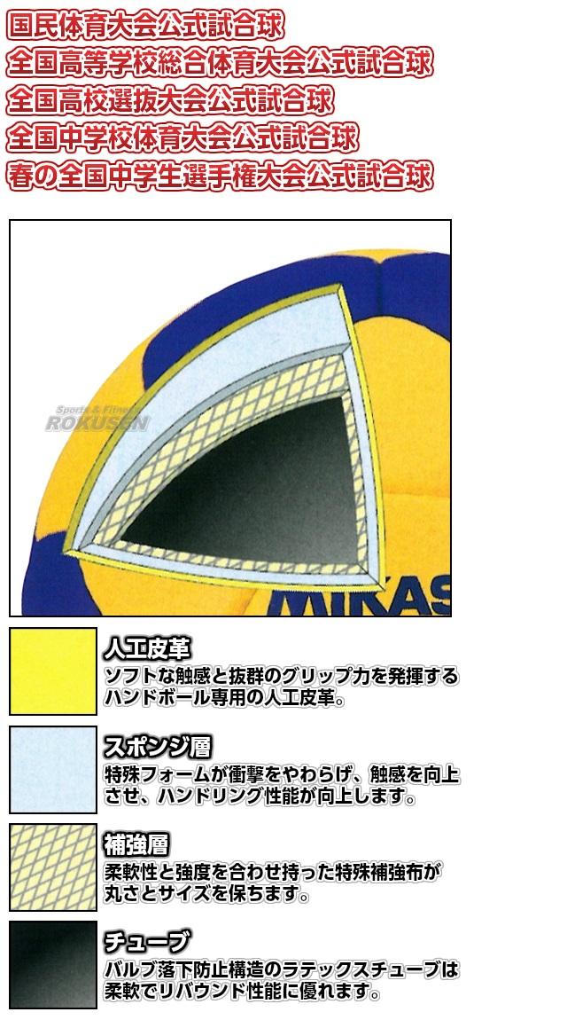 ミカサ・MIKASA ハンドボール2号球 検定球 HB2000