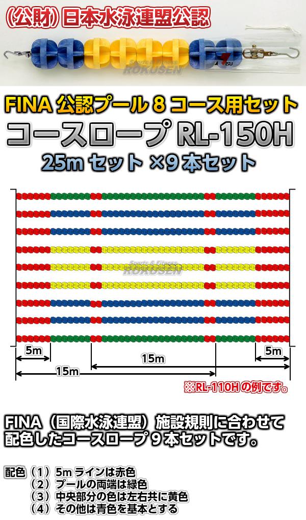 コースロープ RL-150H FINA公認プール 8コース用 25mセット×9本セット