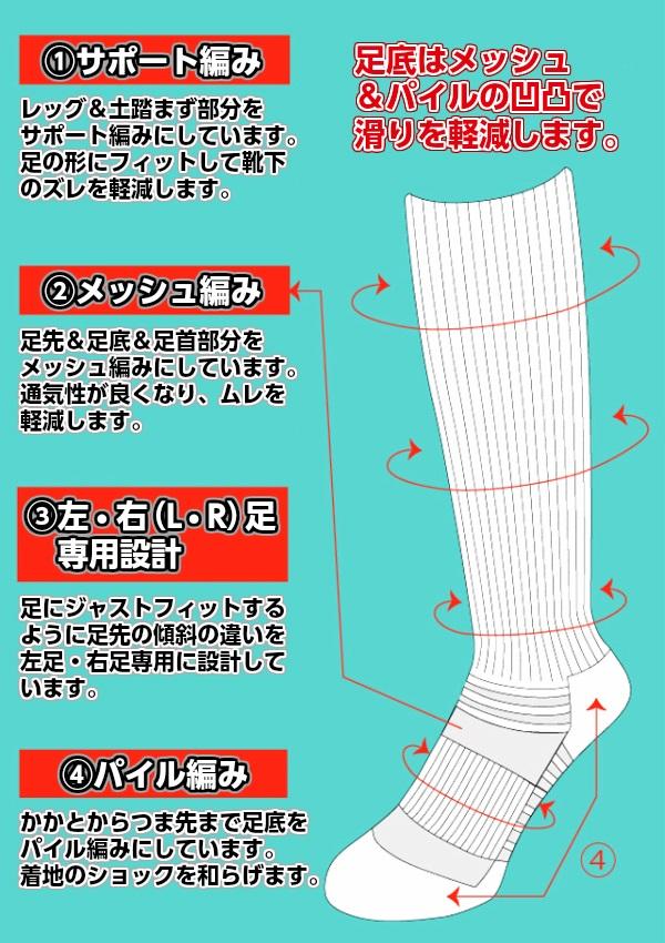 ミカサ・MIKASA バレーボール ロングソックス SKL22/SKL24 靴下 ハイソックス ブラック ホワイト