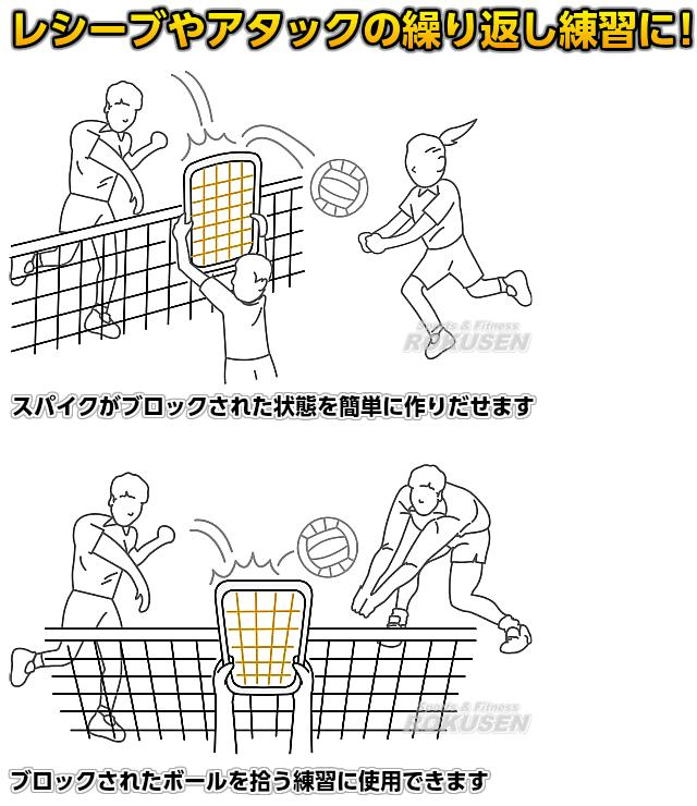 モルテン・molten バレーボール トレーニング用ブロックネット VBN8765