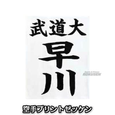 空手 空手用プリントゼッケン RT6(※縫い付けは九櫻と東京堂の空手着のみ対応) 空手衣 空手道着