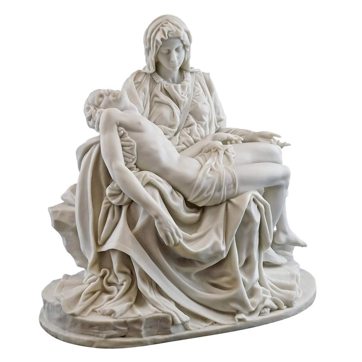 トップコレクション製 ピエタ 大理石風仕上げ - ルネッサンス彫刻 ミケランジェロ・ブオナローティ作 彫像 彫刻(輸入品)