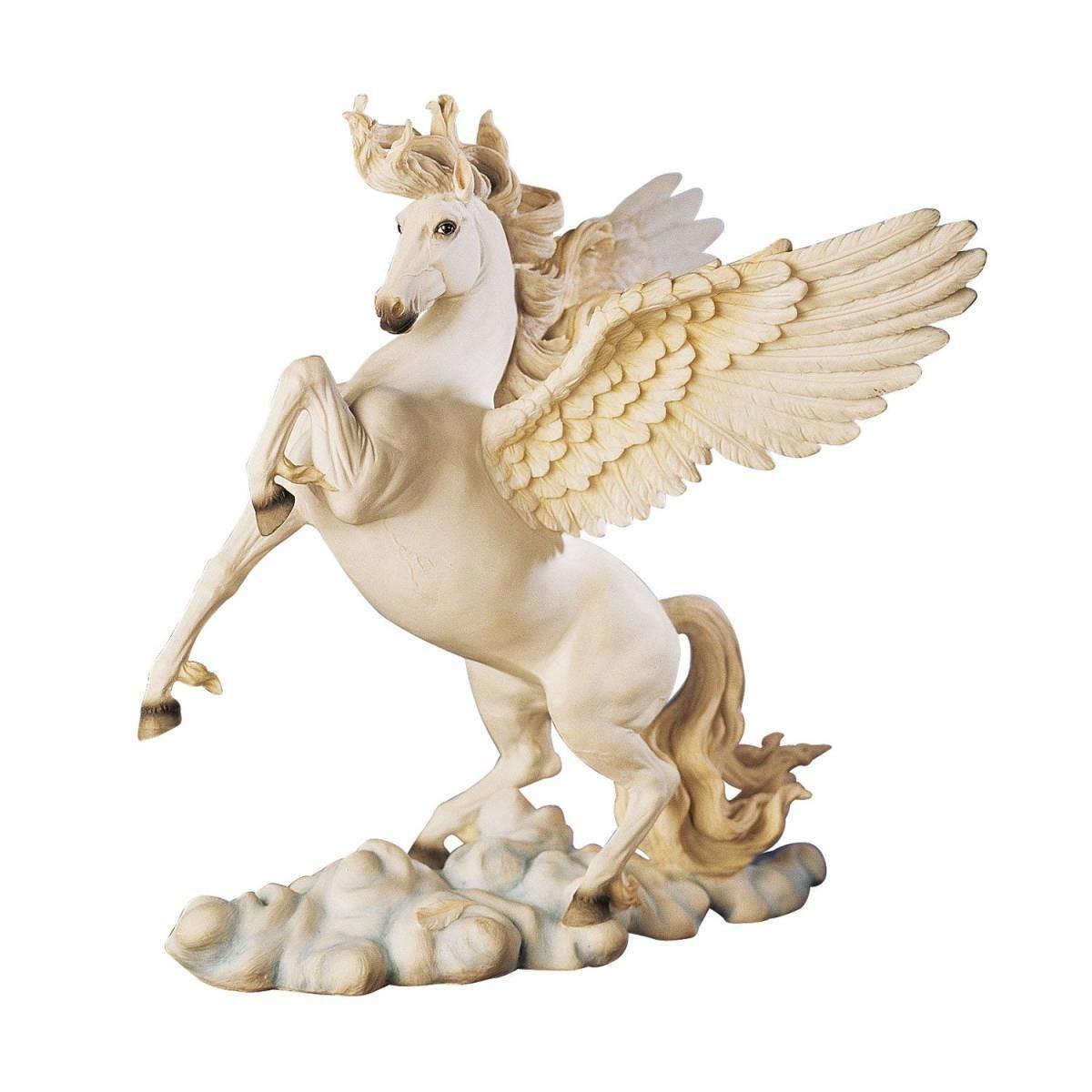 古代ギリシャ ペガサス彫像 高さ約29cm / 11.5 Ancient Greek Tabletop Desktop Pegasus Horse Sculpture Statue(輸入品)