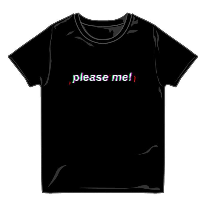Please me! Tシャツ BLACK