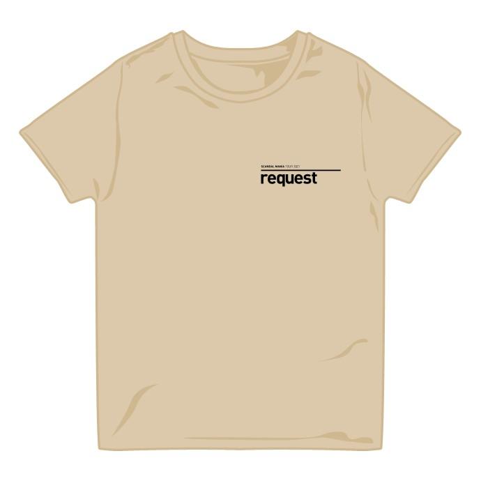 request Tシャツ BEIGE