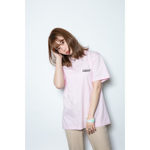 request Tシャツ PINK