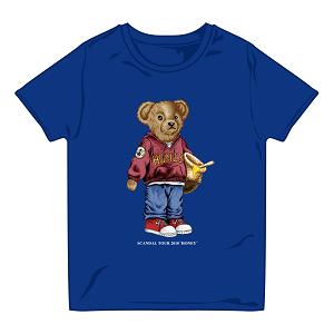 BEAR Tシャツ BLUE