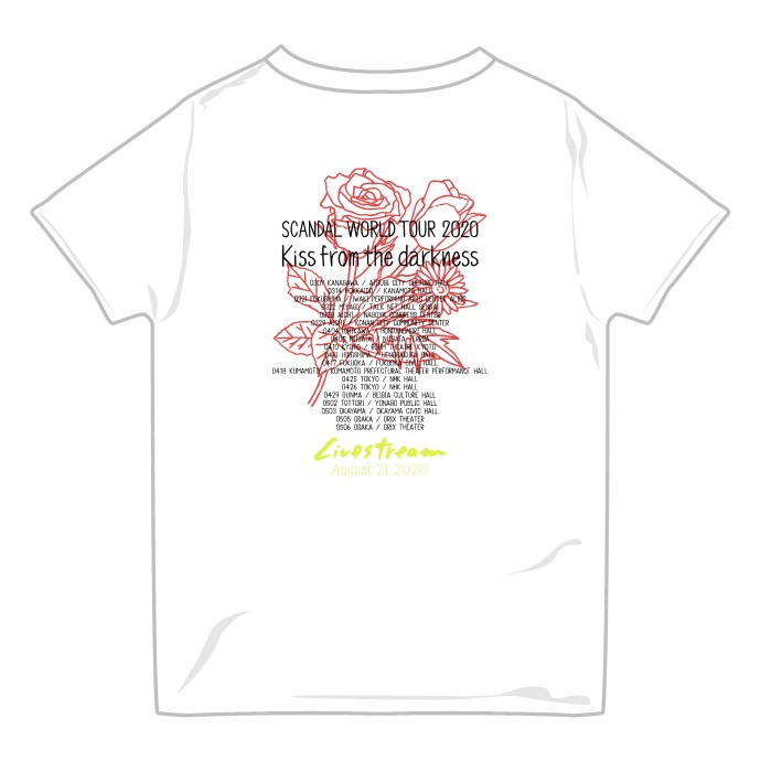 Kiss from the darkness Tシャツ Livestream ver. WHITE