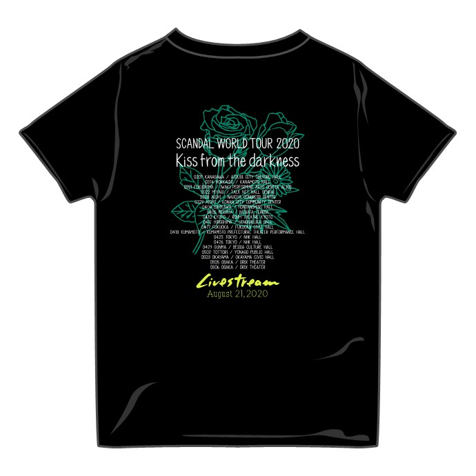 Kiss from the darkness Tシャツ Livestream ver. BLACK
