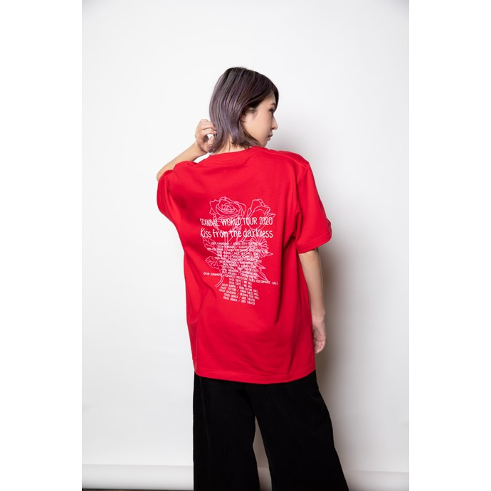 Kiss from the darkness Tシャツ RED